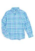 Vineyard Vines Boy's Shark Bay Plaid Performance Woven Shirt