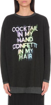 Wildfox Couture Cocktails and Confetti cotton-blend jumper