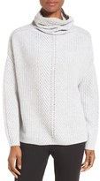 Nordstrom Women's Scrunch Neck Cashmere Pullover
