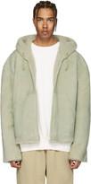 Yeezy Green Short Shearling Jacket