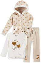 Nannette 3-Pc. Faux-Fur-Trim Hoodie, T-Shirt & Leggings Set, Baby Girls (0-24 months)