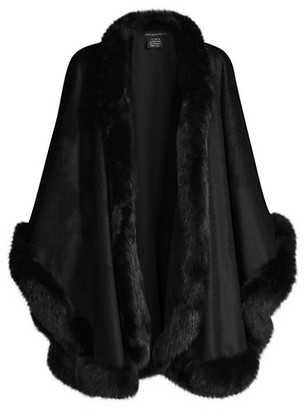 Sofia Cashmere Fox Trim Cape