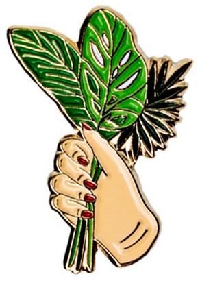 Make Heads Turn Enamel Pin Palm Leaves Bouquet