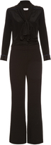 See by Chloe Long-sleeved neck-tie jumpsuit