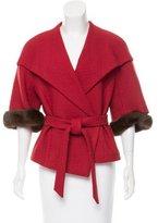 Escada Mink Fur-Trimmed Wool Jacket