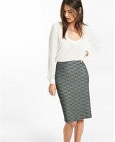 Express high waisted houndstooth pencil skirt