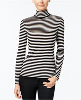 Charter Club Striped Turtleneck Top, Only at Macy's