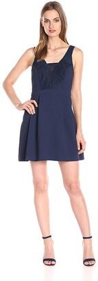 BCBGeneration Women's Lace Insert a Line Dress
