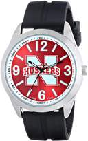 Game Time Men's COL-VAR-NEB Varsity Analog Display Japanese Quartz Black Watch
