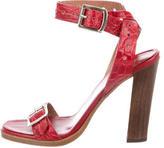 Alaia Crocodile Multistrap Sandals
