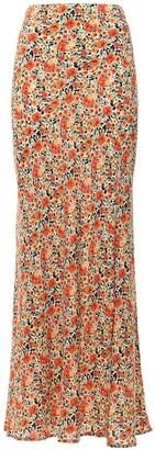 Bec & Bridge Wild Poppies Silk Maxi Skirt