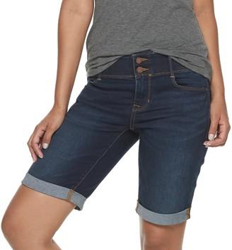 Apt. 9 Petite Tummy Control Bermuda Jean Shorts
