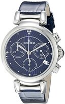 Edox Women's 10220 3C BUIN LaPassion Analog Display Swiss Quartz Blue Watch