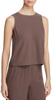 Eileen Fisher Round Neck Silk Shell Top