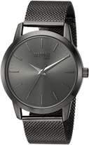 Steve Madden Men's Quartz Metal and Stainless Steel Casual Watch, Color:Black (Model: SMMW002-BK)