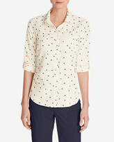 Eddie Bauer Women's Mountain Textured Long-Sleeve Shirt - Print