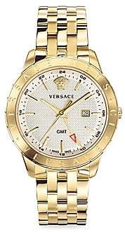 Versace Men's Glaze Gold Ion-Plated Stainless Steel Bracelet Watch