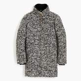 J.Crew Lodge coat in speckled boucle