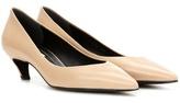 Balenciaga Leather Kitten-heel Pumps