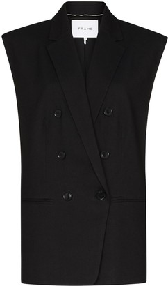 Frame Oversize Double-Breasted Waistcoat