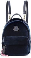 Moncler Leather-trimmed velvet backpack