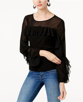 INC International Concepts Ruffled Illusion Top, Created for Macy's