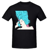Existlong Chromatics Night Drive Custom T Shirts Design Round Neck Black