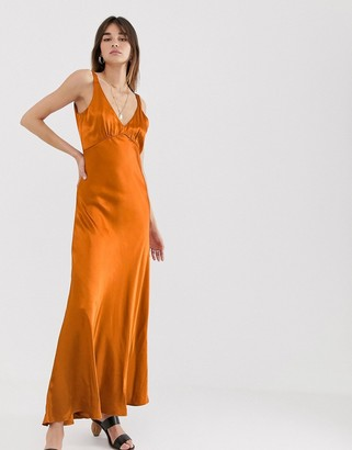 Gestuz Tilja satin maxi dress