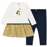Catimini CatiminiBaby Girls Ivory Dress & Navy Leggings Set