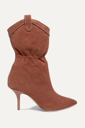 Malone Souliers Daisy 70 Suede Ankle Boots - Tan