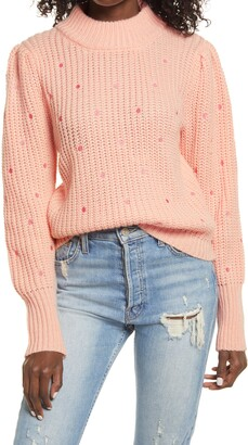 ENGLISH FACTORY Polka Dot Sweater