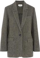 Etoile Isabel Marant Halden Herringbone Wool-tweed Blazer - Gray