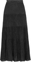 Vionnet Metallic knitted midi skirt