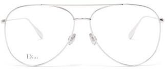 Christian Dior Stellaire017 Aviator Metal Glasses - Silver