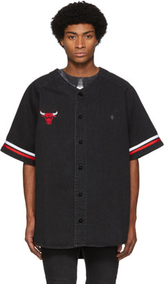 Marcelo Burlon County of Milan Black NBA Edition Denim Chicago Bulls Shirt