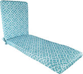 Waverly Lovely Lattice Chaise Lounge Outdoor Cushion