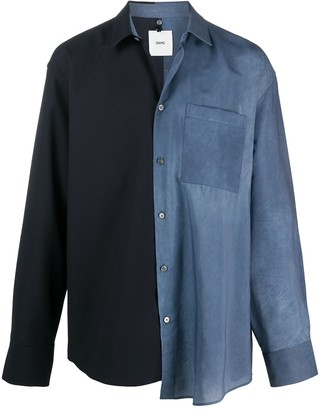 Oamc Two-Tone Button-Up Shirt