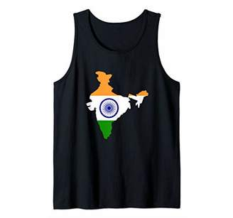 India Country with Indian Flag Tank Top