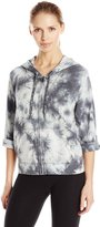 Calvin Klein Women's Tie Dye Fleece Hooded Sweatshirt Jacket