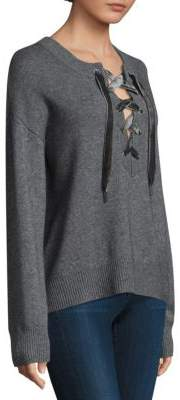 Rails Olivia Velvet Lace-Up Sweater