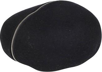 CA4LA Black Wool Blend Beret