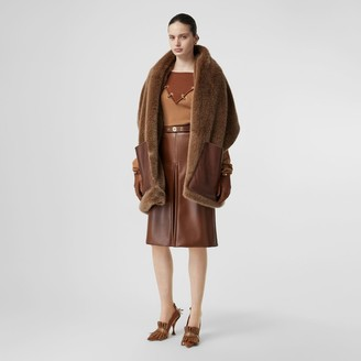 Burberry Faux Fur and Cashmere Stole