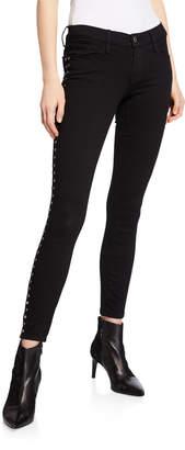 Etienne Marcel High-Rise Tuxedo Studded Straight Jeans