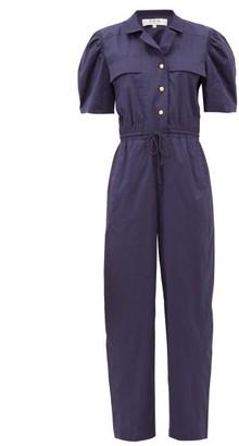 Sea Marine Cotton-blend Jumpsuit - Womens - Navy