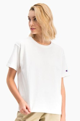 Champion White Crewneck T Shirt - S