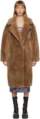 Yves Salomon Meteo Yves Salomon - Meteo Brown Wool Double-Breasted Coat