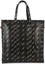 Balenciaga Black gold Logo Bazar Shopper M