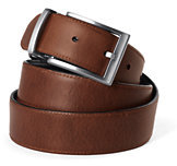 Lands' End Men's Reversible Belt-Burgundy Micro Dot
