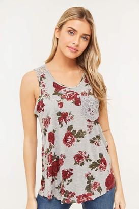Ardene Floral Crochet Tank Top