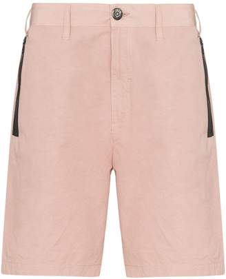 Stone Island Shadow Project zip pocket knee-length Bermuda shorts